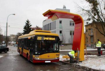 stacja ładowanie miejskich elektrobusów