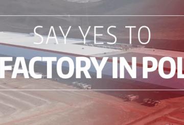 Powiedz tak Gigafactory od Tesla Motors w Polsce
