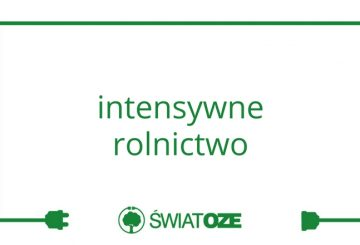 intensywne rolnictwo