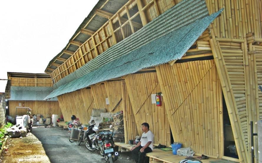 IBUKU, bamboo housing, bamboo, Bali, temporary housing, affordable housing, mezzanine, recyclable materials, plastic waste, recyclable materials