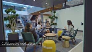 Microsoft, Microsoft redmond campus, Microsoft treehouse, Microsoft office design, Microsoft office seattle, Microsoft office design, Microsoft mini city, City of Redmond, green office, zero waste office, green space, green design, tech campus design