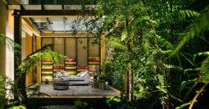 Villa Jardín, ASP Arquitectura Sergio Portillo, Mexico City, reclaimed wood, vertical garden, natural ventilation, green interior, green architecture, modular space, modular design