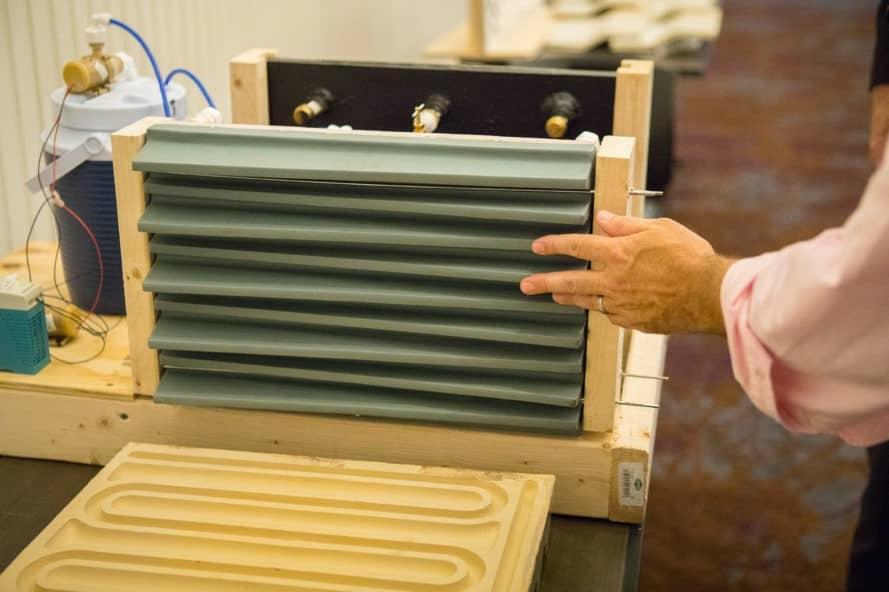 Terracotta, Team AECOM, counter-current heat exchanger, heat, radiator, energy