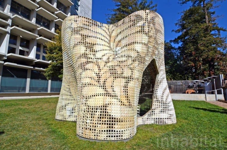 3D-Printed Bloom Pavilion, UC Berkeley, Ronald Rael, 3d printer, 3d printing, 3d-printed architecture, green building, sustainable design, green design, building technology, 3d-printed building, green technology, 3d printed design