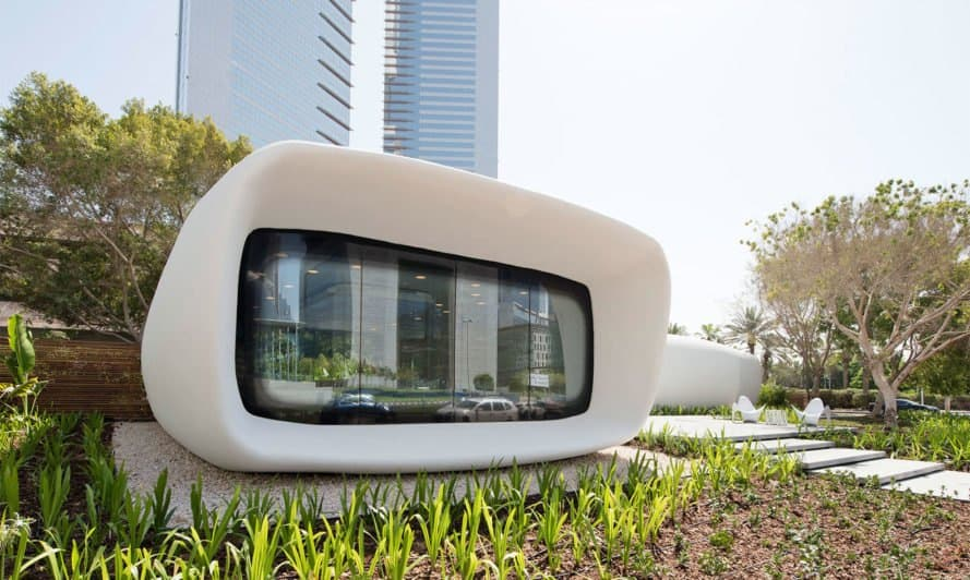 3D-printed Office of the Future, Dubai, 3d printer, 3d printing, 3d-printed architecture, green building, sustainable design, green design, building technology, 3d-printed building, green technology, 3d printed design