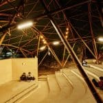 Bamboo Amphitheater Space Structure by Bambutec Design, Bamboo Amphitheater Space Structure, Bambutec Design, bamboo amphitheater, bamboo architecture in Brazil, bamboo architecture in Rio de Janeiro, prefab bamboo architecture,