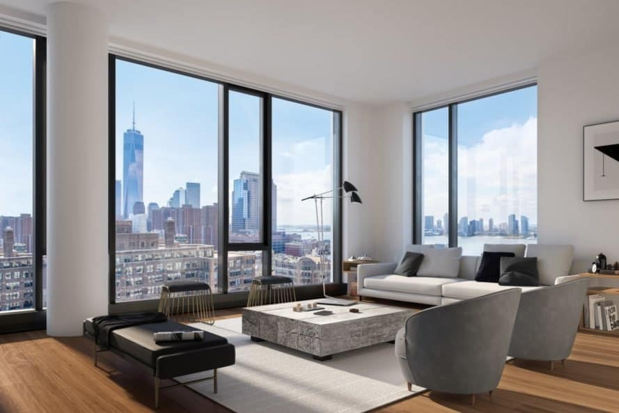 570 Broome, Builtd, 570 Broome by Builtd, Skidmore Owings & Merrill, living room, condominium, New York City