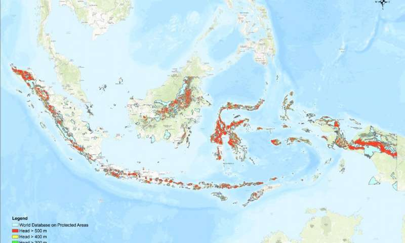 Indonesia has far more than enough pumped hydro storage sites to support a 100% renewable electricity grid