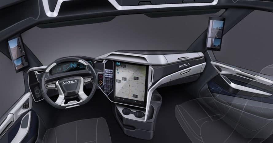 Inside the Nikola Two hydrogen-electric semi truck