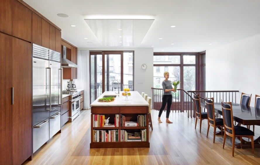 Kitchen in the Brooklyn passive plus house by Baxt Ingui Architects