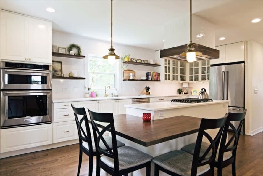 kitchen with a breakfast nook