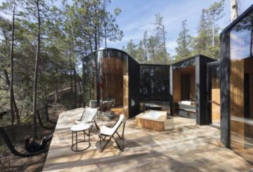 cabin with bushland views