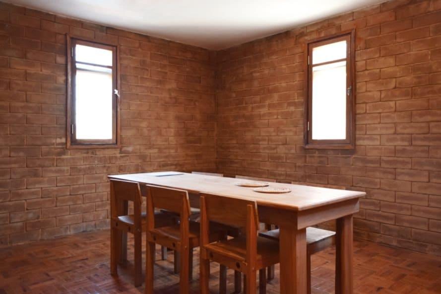 enclosed dining room
