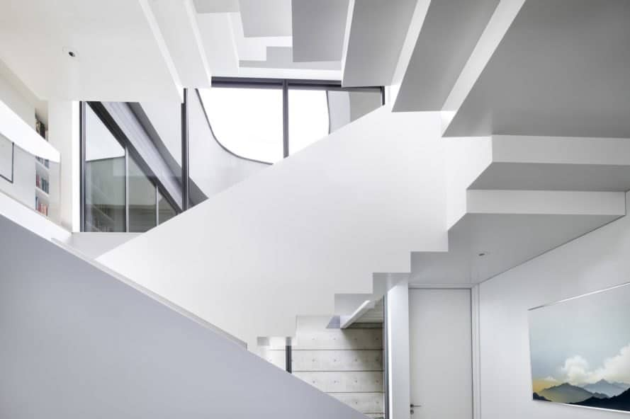 sculptural central stair