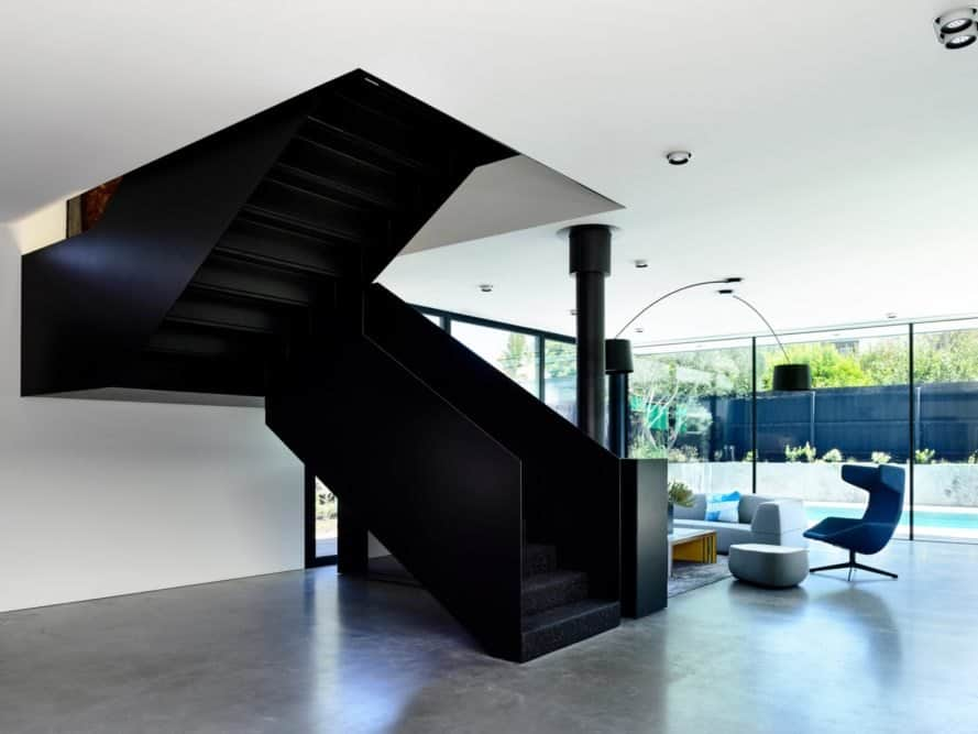 staircase from living area