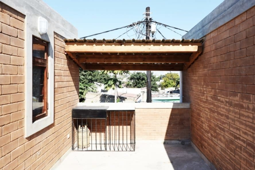 sunny open terrace
