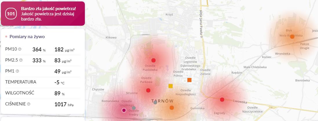 smog tarnów