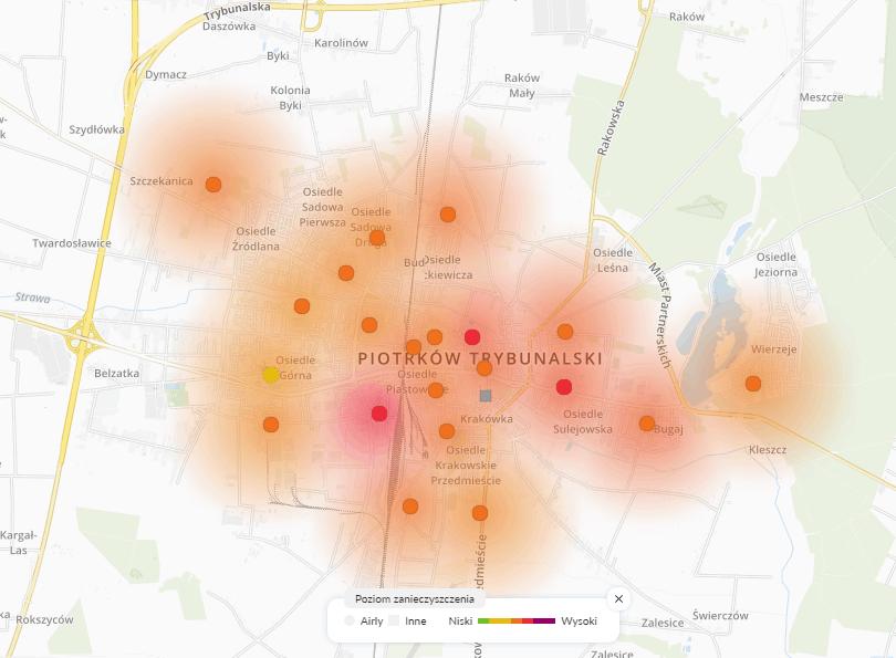 29.01 smog Piotrków trybunalski