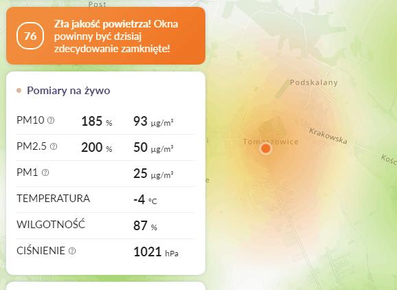 smog tomaszowice
