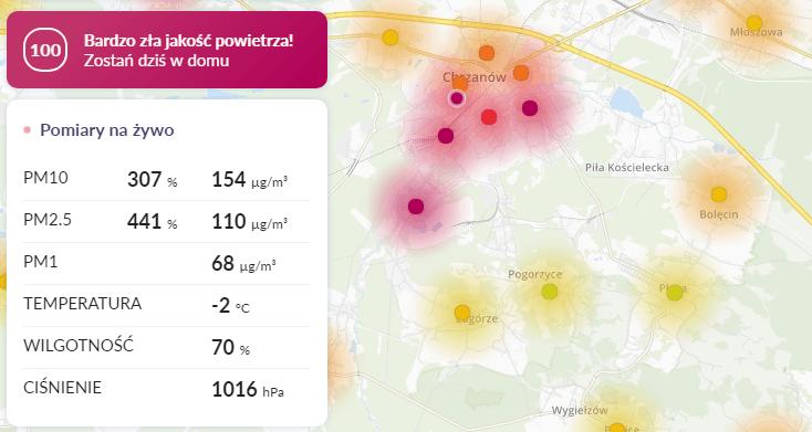 smog chrzanów